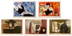 The Romantics Suite, Five Lithographs by Arranz-Bravo