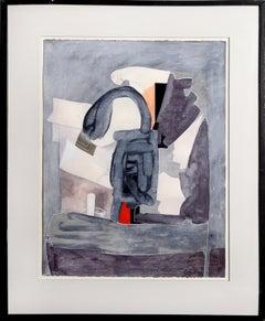 Blue-Gray Abstract Painting by Eduardo Arranz-Bravo