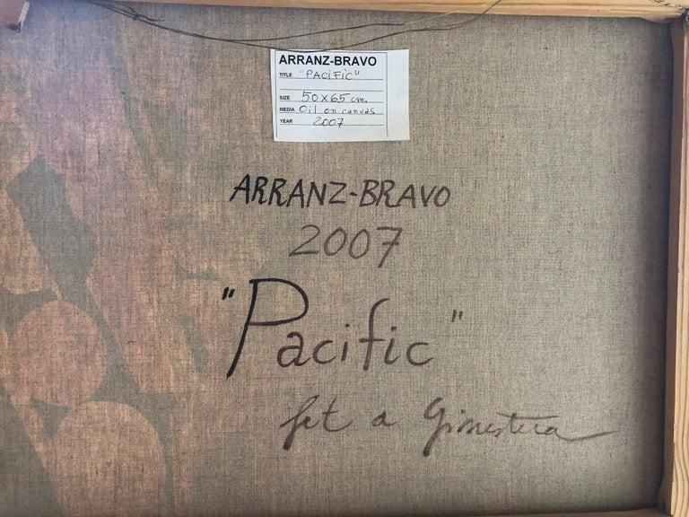 Hand-Painted Eduardo Arranz-Bravo Oil Painting 'Pacific', 2007  For Sale