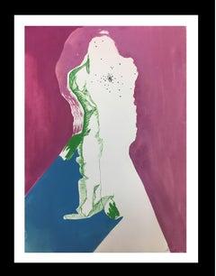 FEMALE FIGURE.. Original acrylic painting