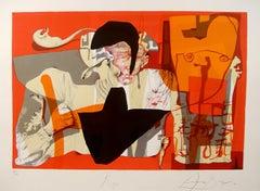 Roger, Surrealist Lithograph