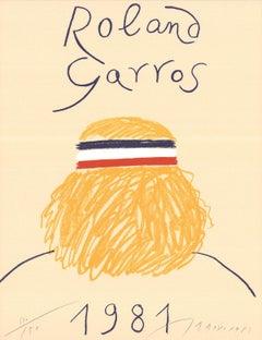 1981 Eduardo Arroyo 'Roland Garros French Open' Contemporary Yellow France Offse