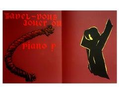 Eduardo Arroyo - Can You Play Piano ? - Original Lithograph