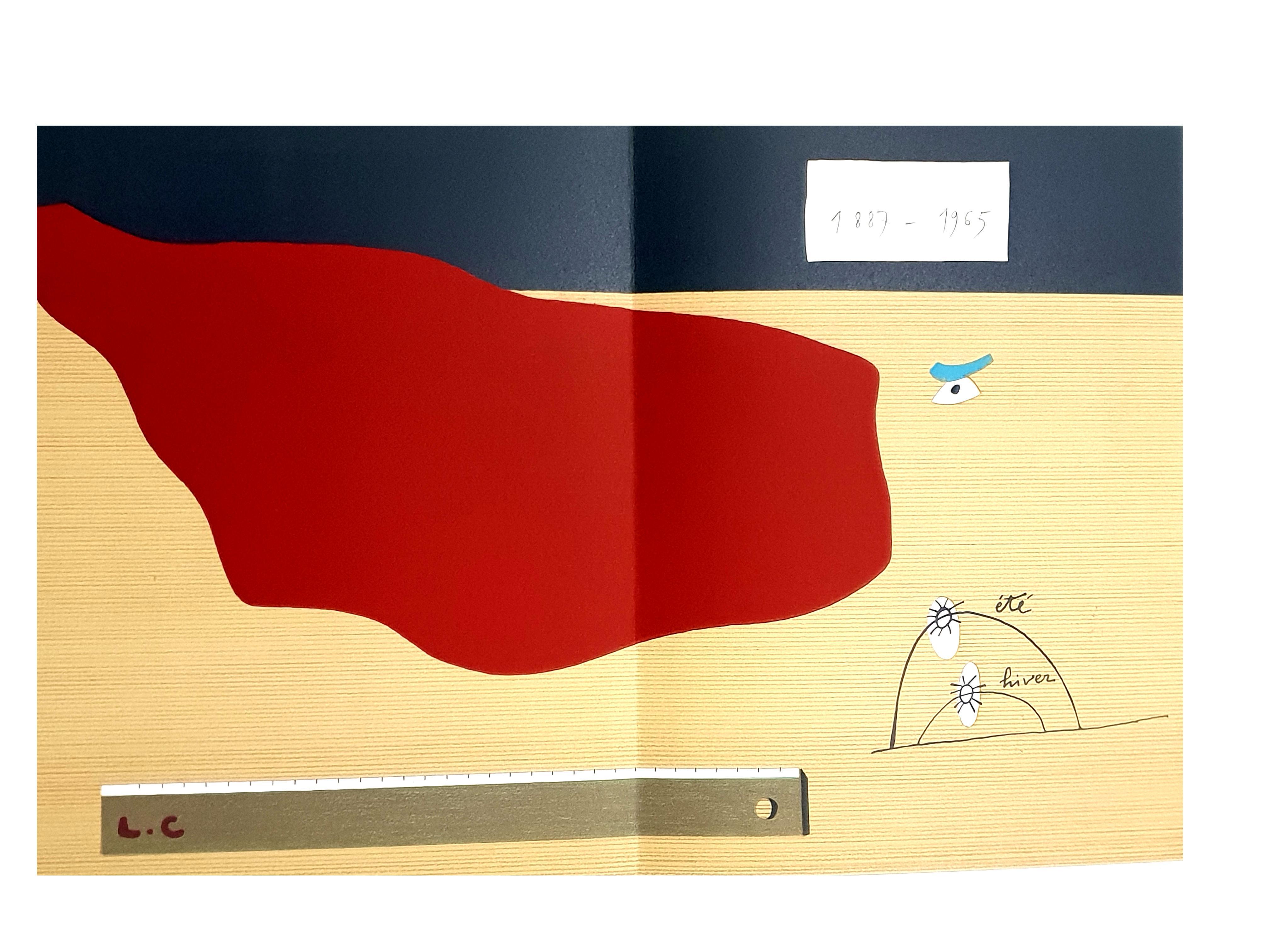 Eduardo Arroyo - Homage to Le Corbusier - Original Lithograph