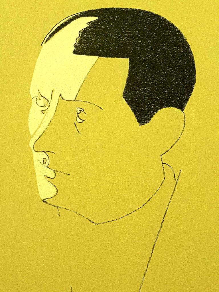 Eduardo Arroyo - Malraux - Original Handsigned Lithograph - Modern Print by Eduardo Arroyo