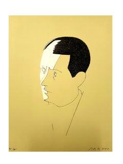 Eduardo Arroyo - Malraux - Original Handsigned Lithograph