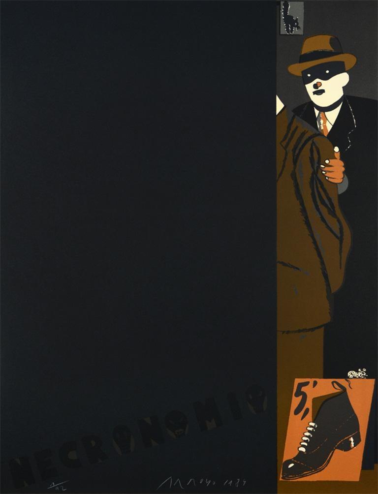 Eduardo Arroyo Figurative Print - EDUARDO ARROYO: Necronomio - Limited ed. Lithograph on paper. Pop Art Surrealism