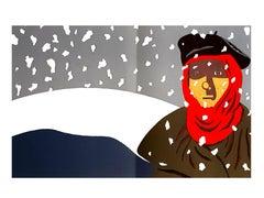 Eduardo Arroyo - Resistance in the Snow - Original Lithograph
