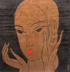 'Woman in Gold', Ecole des Beaux Arts, Paris, Vogue, Art Deco, Benezit, Flapper