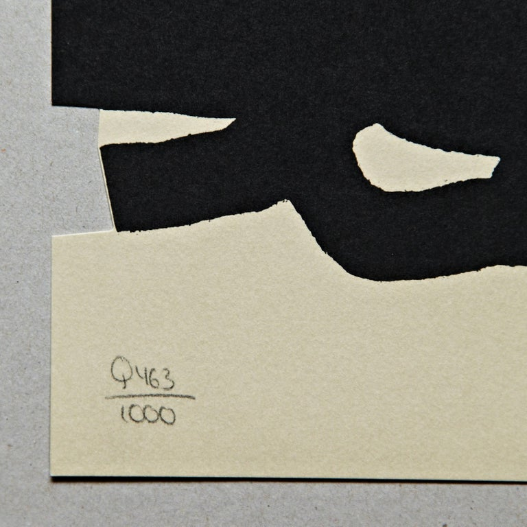 Lithography by Eduardo Chillida  Limited edition, numbered 463/1000 and signed in the stone. Printed by Poligrafa Barcelona in 1999 for Galeria d'arte contemporaneo. In good original condition.  Eduardo Chillida (1924-2002). 'Chillida studied