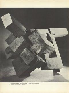 1964 Eduardo Chillida 'Abesti Gogora III' France Offset Lithograph