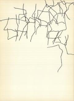 1964 Eduardo Chillida 'DLM no. 143 Page 3' France Lithograph