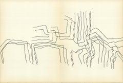 1964 Eduardo Chillida 'DLM no. 143 Pages 12,13' France Lithograph