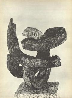 1964 Eduardo Chillida 'Enclume de Reve XI' France Offset Lithograph