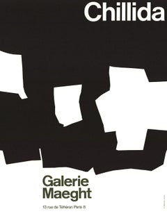 1968 After Eduardo Chillida 'Galerie Maeght' Abstract France Lithograph
