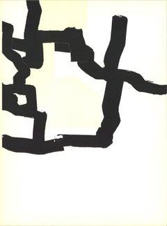 1970 Eduardo Chillida 'DLM No. 183 page 17' Black & White Lithograph