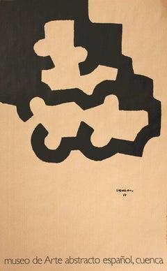 1995 After Eduardo Chillida 'Museo De Art Abstracto' Abstract Brown,Black Spain