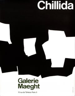 """Chillida - Galerie Maeght"" Abstract Original Vintage Exhibition Poster 1950s"