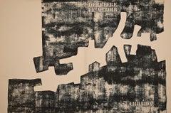 Cover for Derriere Le Miroir - Original Lithograph by Eduardo Chillida - 1968