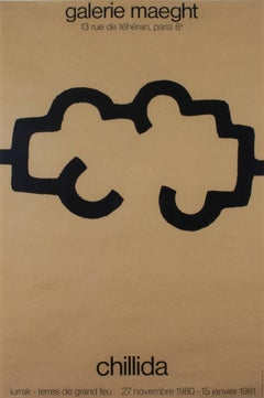 """Galerie Maeght,"" Original Geometric Silkscreen Poster by Eduardo Chillida"
