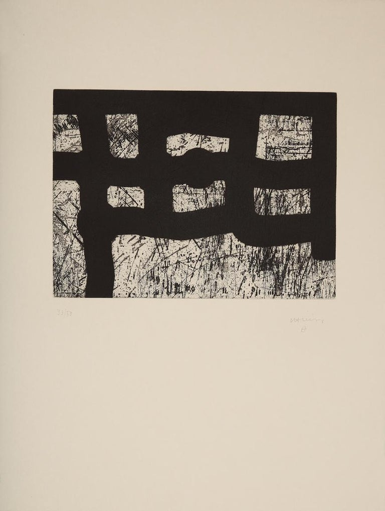 Lagunkide - 20th Century, Eduardo Chillida, Abstract Graphic Art, Masterprinter - Print by Eduardo Chillida