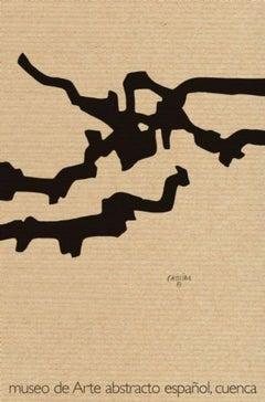 Lithography Exhibition Poster Vintage Black Minimal Geometric