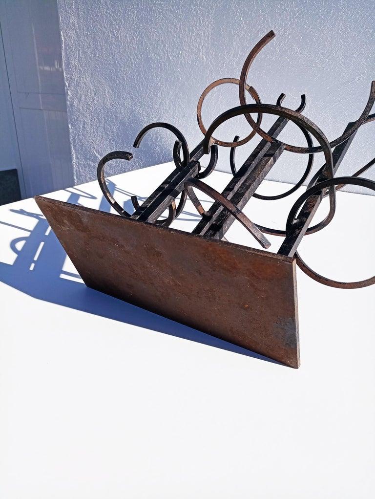 Eduardo Chillida Style Iron Sculpture, 1960s For Sale 2