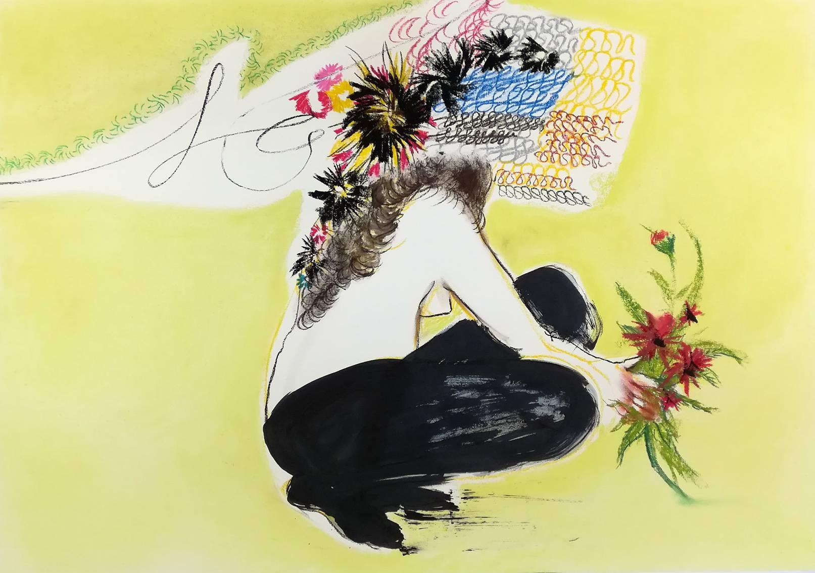 Eduardo Infante, Aztec Leggings, 2017