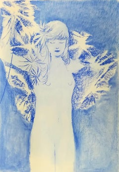 Eduardo Infante, Blue Sparks - Pastel on paper, 2017