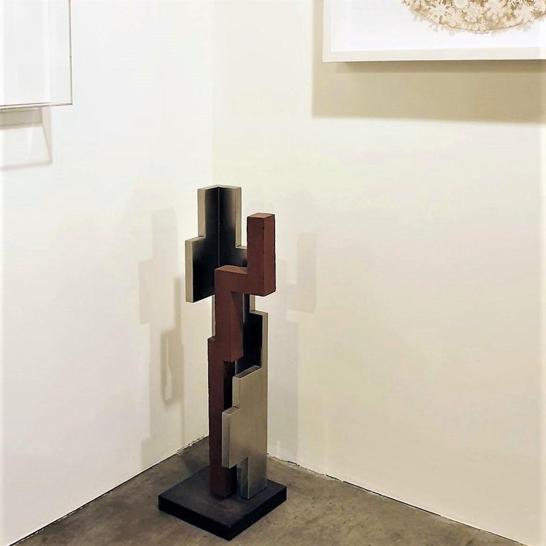 Verdad 06 - contemporary modern abstract geometric steel sculpture - Sculpture by Eduardo Lacoma