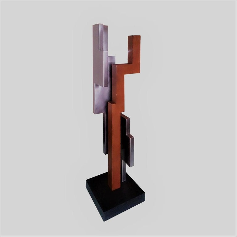 Verdad 06 - contemporary modern abstract geometric steel sculpture For Sale 1