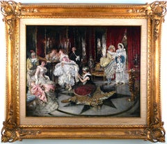 """Before The Ball"", 19th Century Oil on Wood Panel by Eduardo León Garrido"