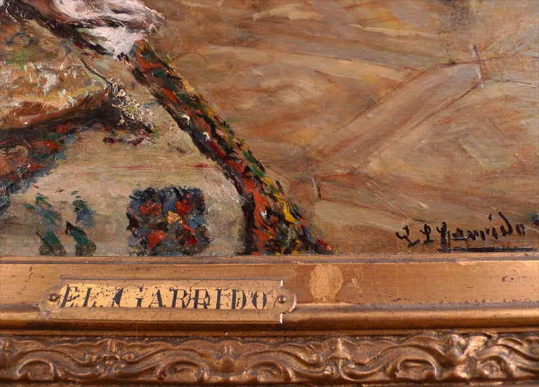 EDUARDO LEÓN GARRIDO Spanish, 1856- 1949 THE PAINTER AND HIS MODEL signed