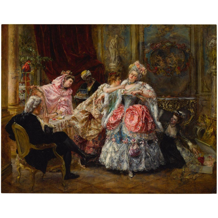 Eduardo León Garrido (Spanish, 1856-1949) A very Fine oil on panel