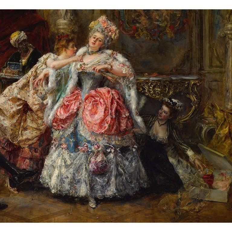Hand-Painted Eduardo León Garrido (Spanish, 1856-1949) Oil on Panel