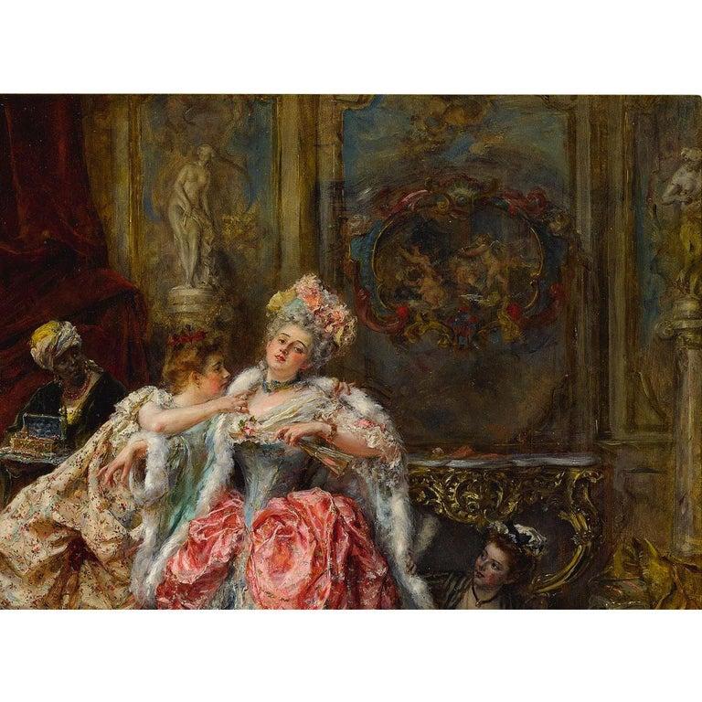 Eduardo León Garrido (Spanish, 1856-1949) Oil on Panel