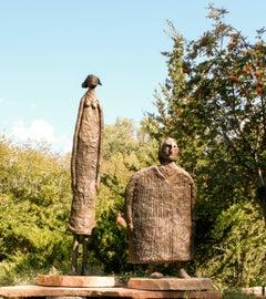 Horizontes (Horizons), Eduardo Oropeza, bronze friends sculpture, monumental