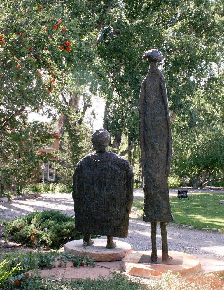 Horizontes (Horizons), Eduardo Oropeza, bronze friends sculpture, monumental For Sale 3