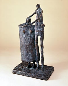 Lovers of Chimayo by Eduardo Oropeza, bronze sculpture, couple, edition