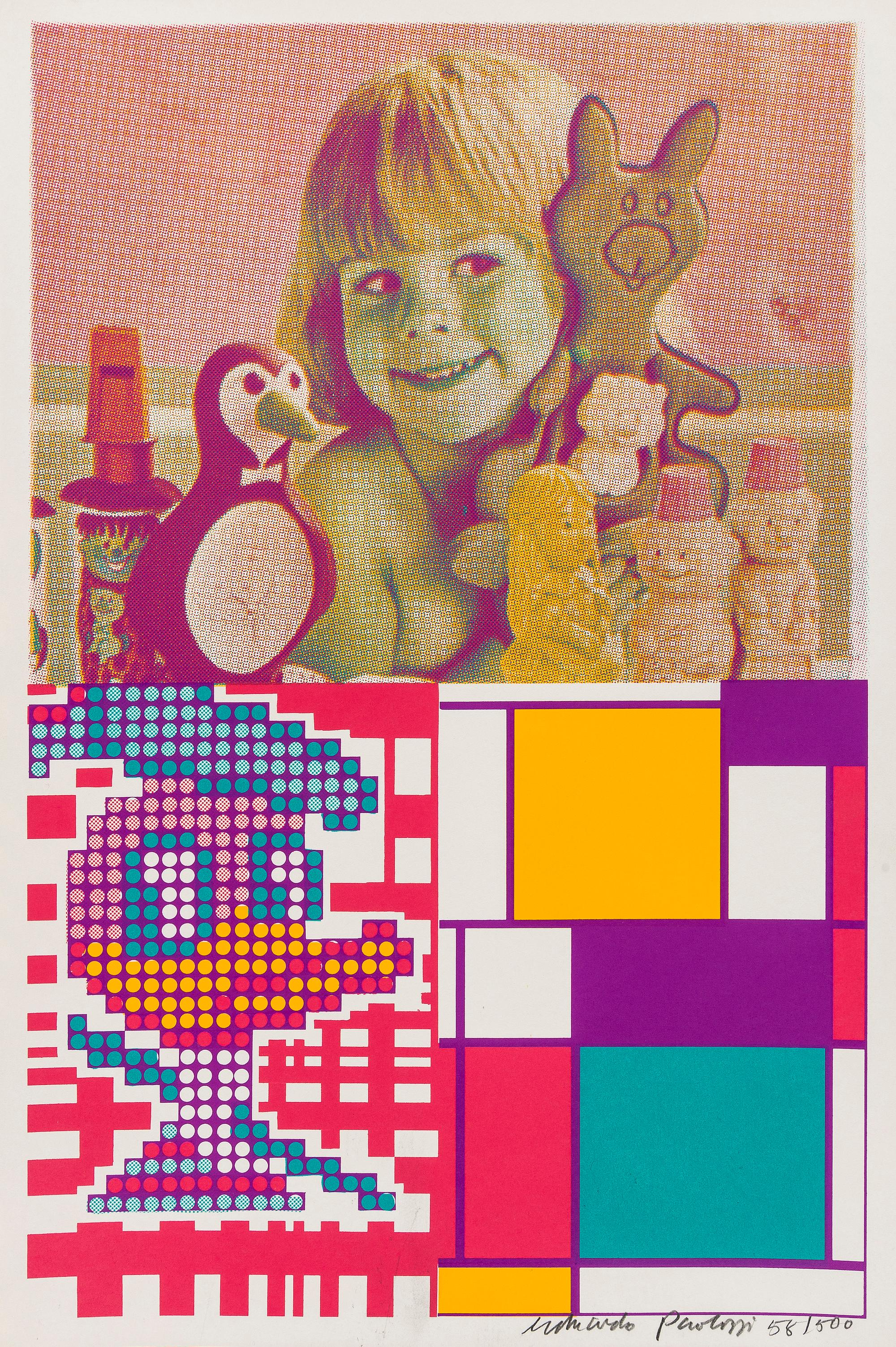 Donald Duck Meets Mondrian -- Print, Patterns, Pop Art by Eduardo Paolozzi