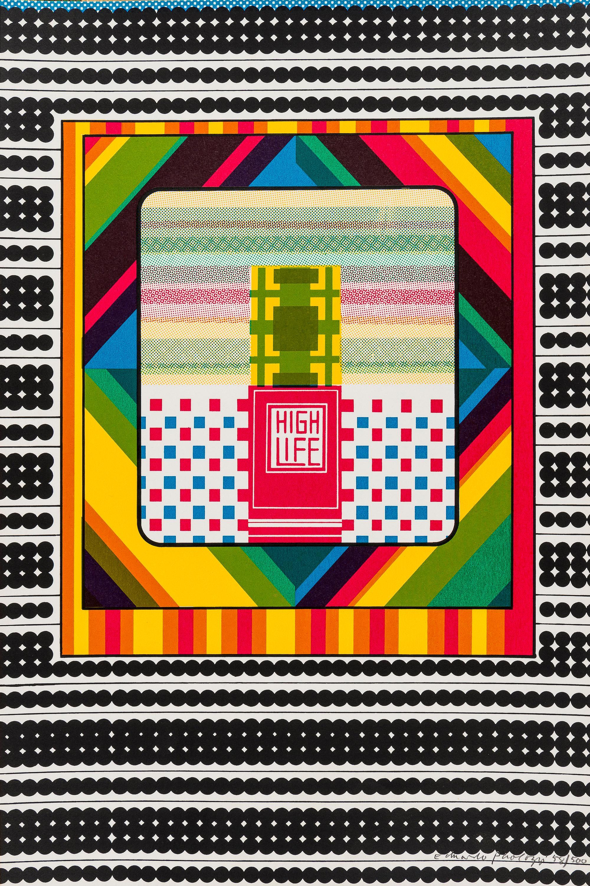 High Life -- Screen Print, Stripes, Patterns, Pop Art by Eduardo Paolozzi
