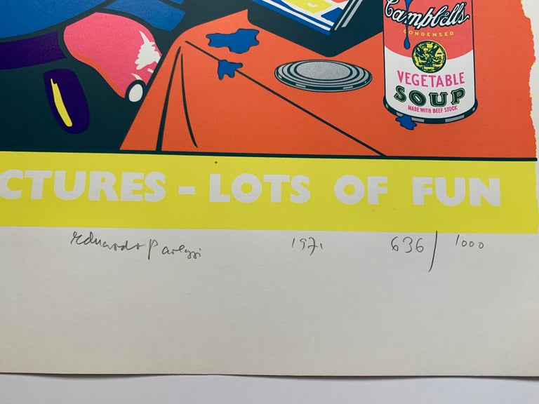 Lots of Pictures, Lots of Fun (Pop Art Crayon Ad) - Print by Eduardo Paolozzi