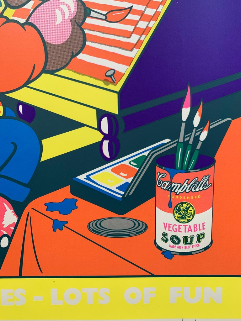 Lots of Pictures, Lots of Fun (Pop Art Crayon Ad) - Beige Figurative Print by Eduardo Paolozzi