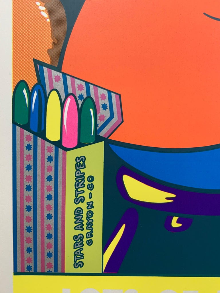 Lots of Pictures, Lots of Fun (Pop Art Crayon Ad) For Sale 2