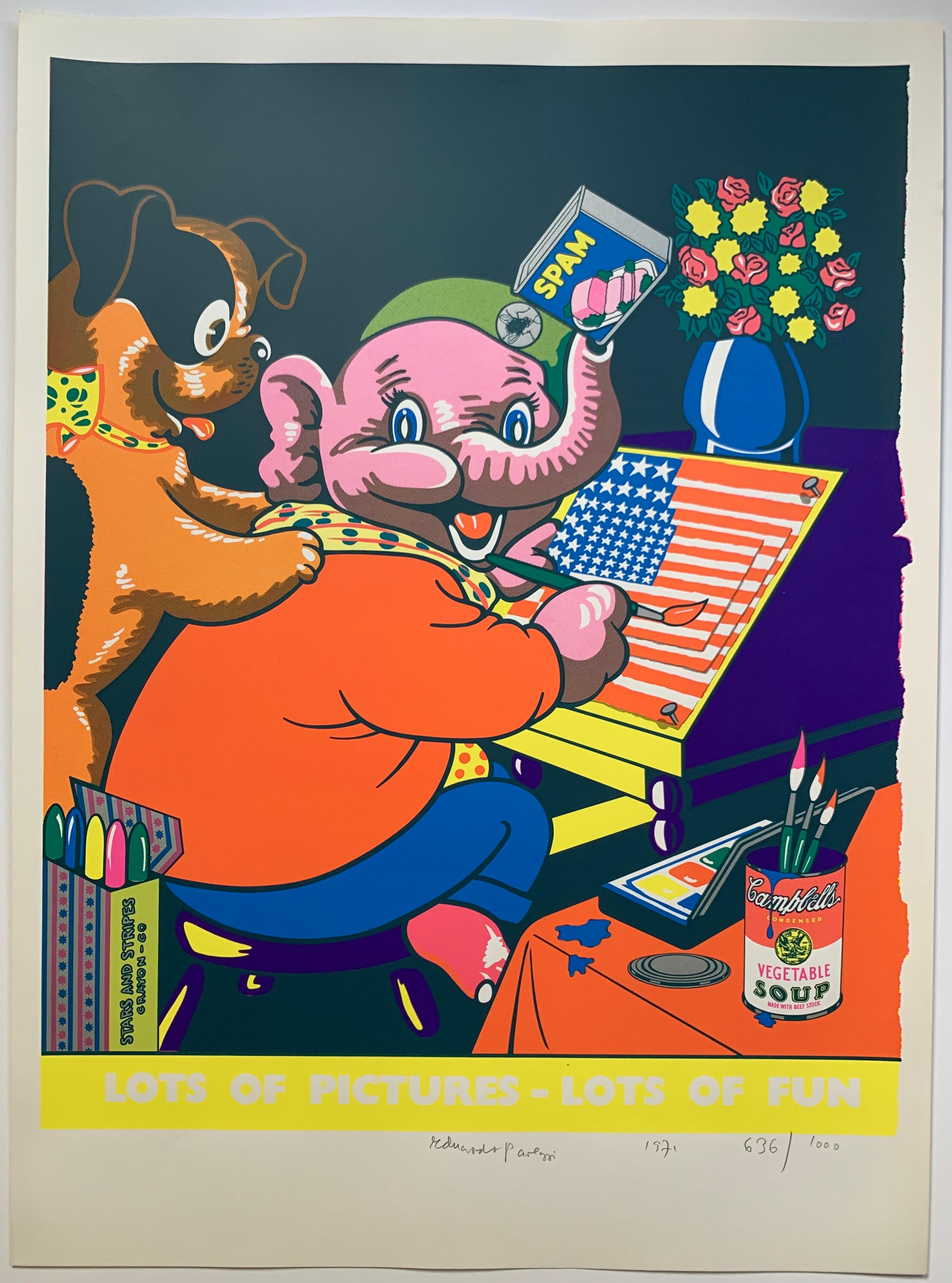 Lots of Pictures, Lots of Fun (Pop Art Crayon Ad)