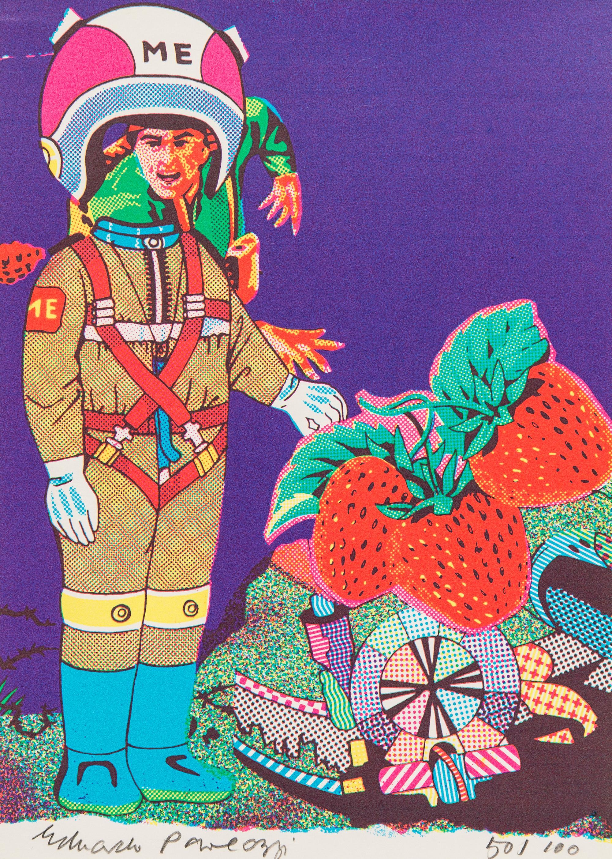 Me -- Screen Print, Portrait, Figurative Art, Pop Art by Eduardo Paolozzi