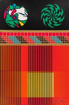Memory Core Units -- Screen Print, Pattern, Stripes, Pop Art by Eduardo Paolozzi