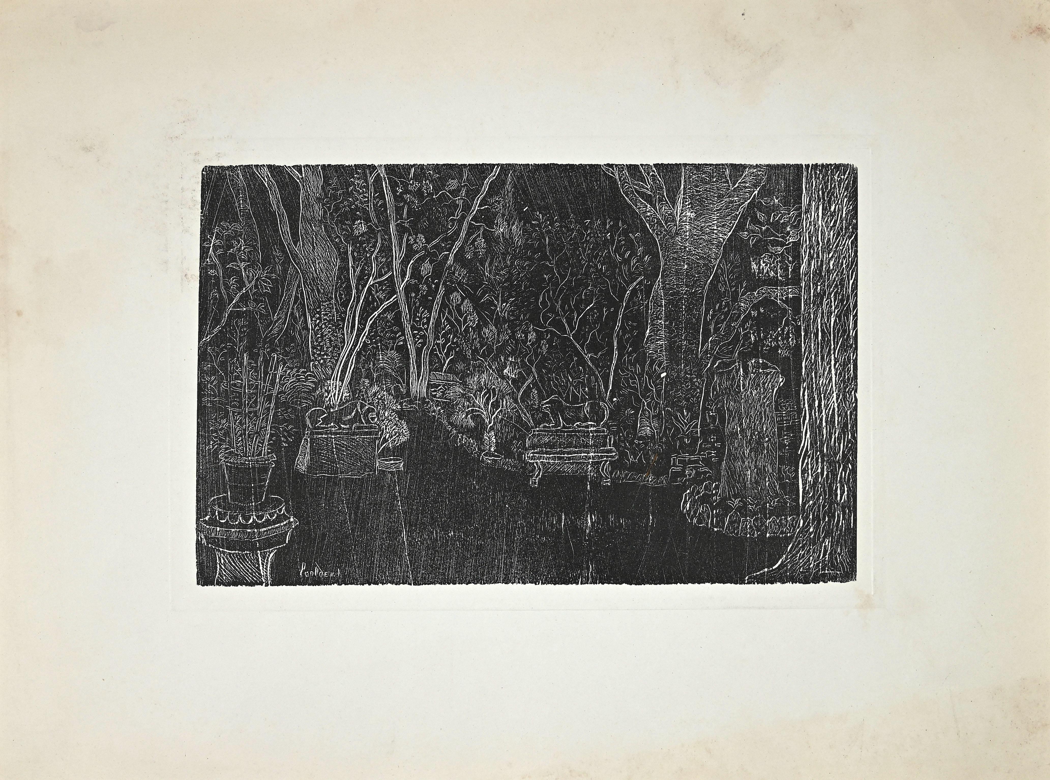 Price - Garden - Original Etching by Eduardo Paolozzi - Late 20th century