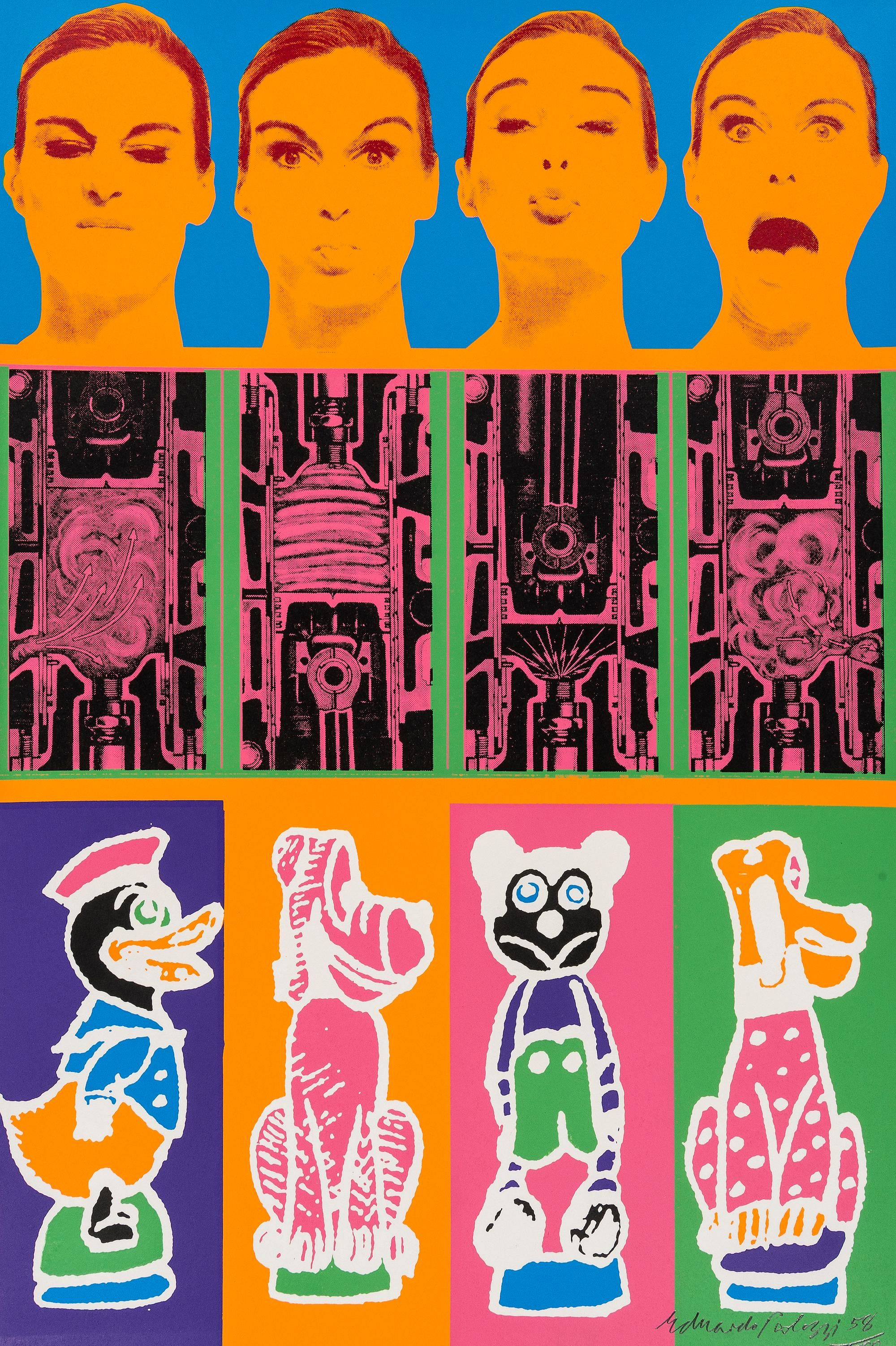 Secrets of the Internal Combustion Engine -- Print, Pop Art by Eduardo Paolozzi