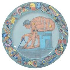"Eduardo Paolozzi's ""After Newton"", Rosenthal Porcelain Dish"